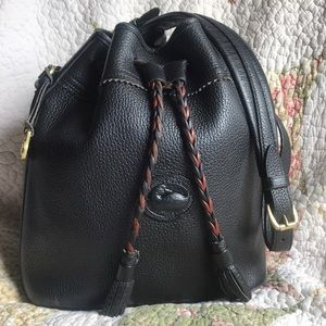 VTG Dooney & Bourke AWL Teton Black Drawstring